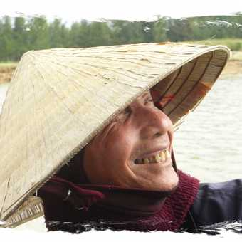 A fisherman on the Mekong Delta Vietnam