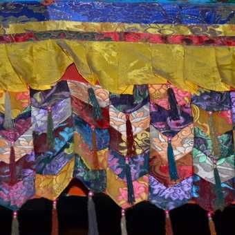 Colourful hanging in the monastery