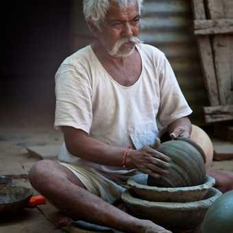 A craftsman in a local village, Jaipur