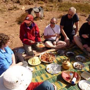 Lunch on the trek