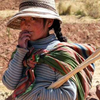 little girl lake titicaca