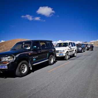 Tibetan at the Kamba La pass (4794m)