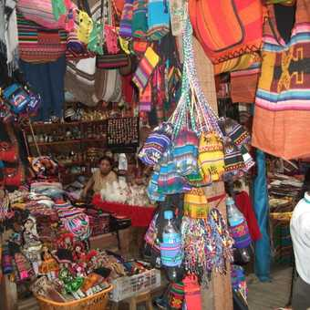 Colourful market stall