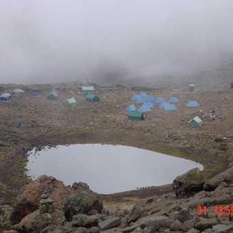 Mawenzi Tarn from the acclimatization trek
