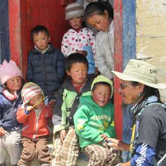 School children at the highest School in the World