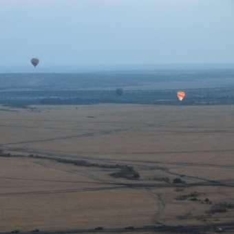 Breakfast after the balloon ride in he Maasai Mara