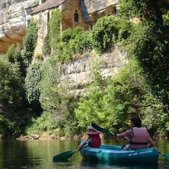 Canoeing below, 'La Madeleine'