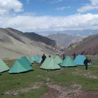 The camp up the valley from Choksi