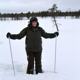 Amanda snow shoeing
