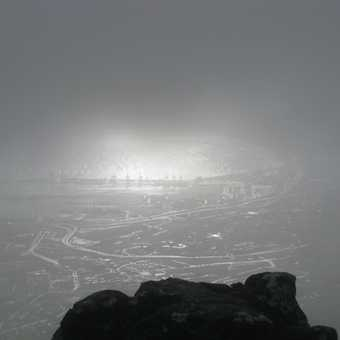 Misty Day on Table Mountain, Cape Town, South Africa