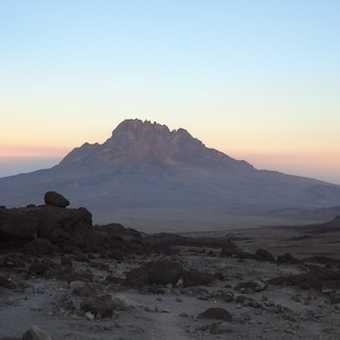 Mawenzi at sunset