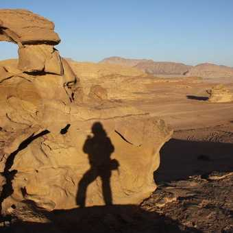 Shadowland.  Evening light, Wadi Rum