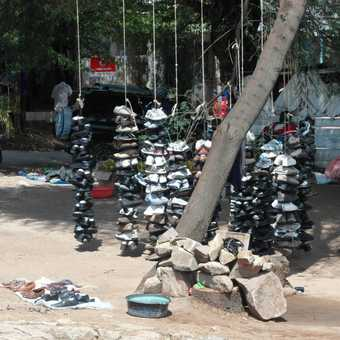 Road from lake victoria to Serengeti ..... shoe shop!