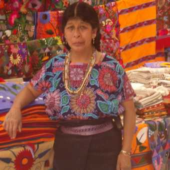 Fabric seller @ Chiapas region, Mexico