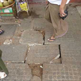 Watch your step in Yangon!