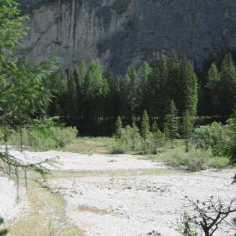 Dark cliffs in the Val de Contrin