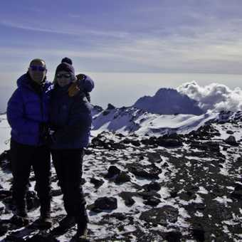 Us and a view over the crater