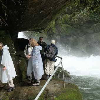enjoying the waterfall near Savegre Lodge