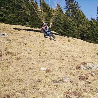 Paragliding take off