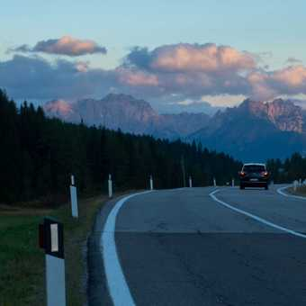 Sunset from the Kreutzberg Pass.