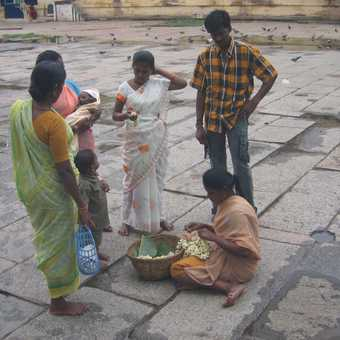 Family group in temple