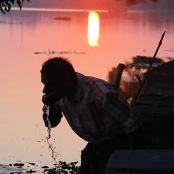 Sunset in Kerala