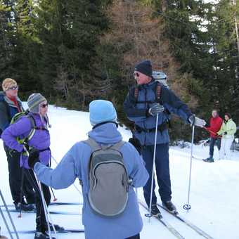 Day 4 Mariawaldrast At the ski lift stop Bob explaining how to go down hill!