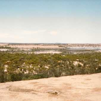 View from the top of Wave Rock, WA