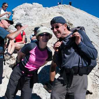 Smile, we can see the summit!