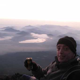 View from the top - Mt Fuji (with hot coffee in a can!)