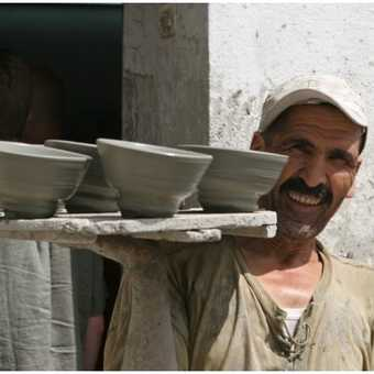 The pottery man