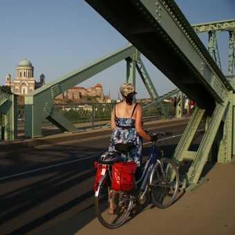 Crossing the bridge to Esztergom