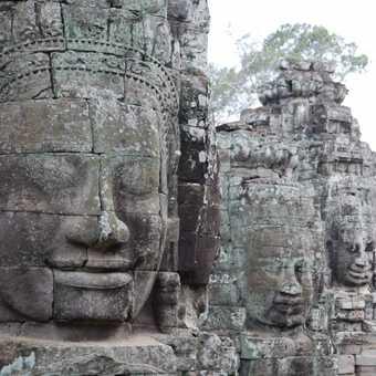 Bayon Temple - 3 faces view