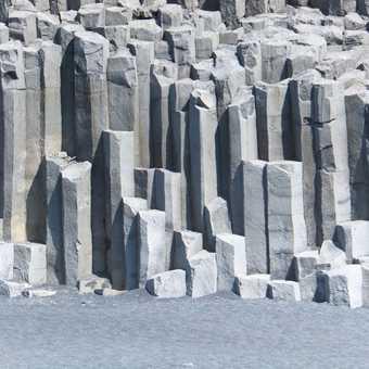 Columnar basalt cliffs, Dyrhólaey.