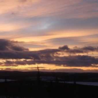 Panorama of the Torne Valley, Swedish Lapland