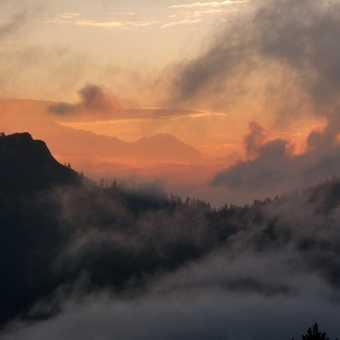 Sunrise  over Annapurna Range taken from Poon Hill