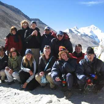 Group photo at Everest base camp!