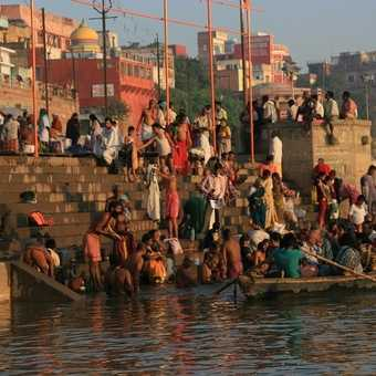 Bathing ghat, River Ganges, Varanasi