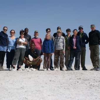 Our Group On Etosha Pan