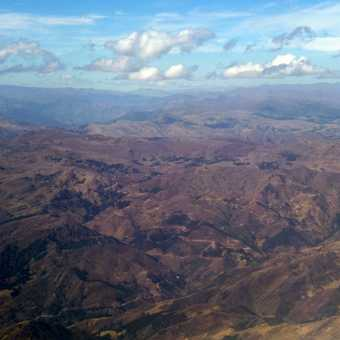 A glimpse of the beautiful Andes from the air.