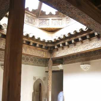 Shadows and light, inside the halls, Medersa Ben Youseff, Marrakech