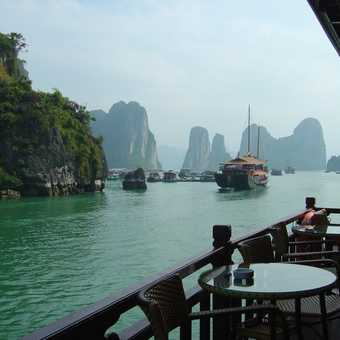 On the boat in Halong Bay