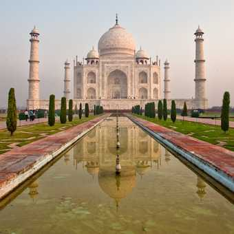 Up close to the Taj Mahal