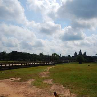 Monk in Angkor Wat Grounds