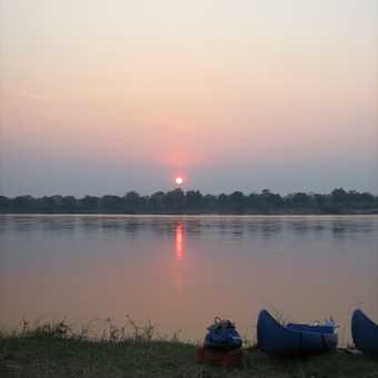 Sunrise after the first night's camp