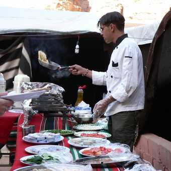breakfst at Wadi Rum