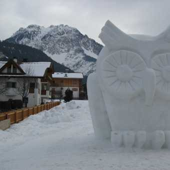 Ice sculpture at San Vigilio