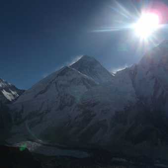 Sunrise over Everest.
