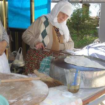 Women making pancakes - Lake Golcuk