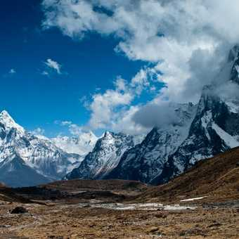 Ama Dablam from the other side of the pass.